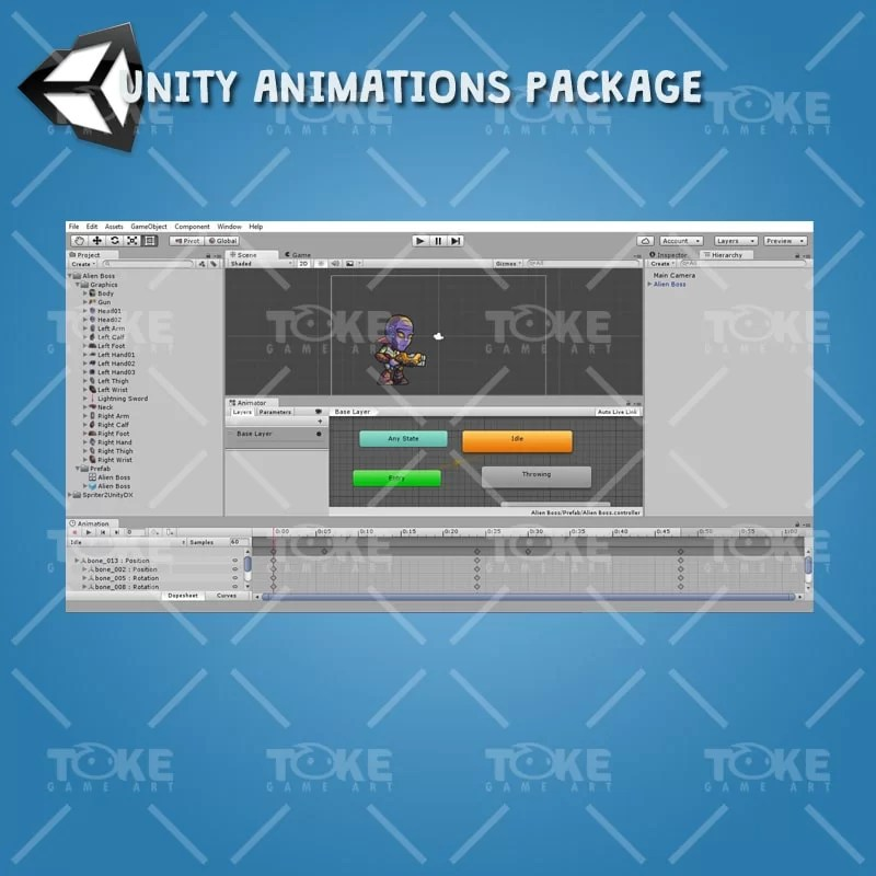Alien Boss - Unity Animation Ready
