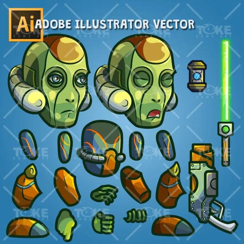 Android Boss - Adobe Illustrator Vector Art Based