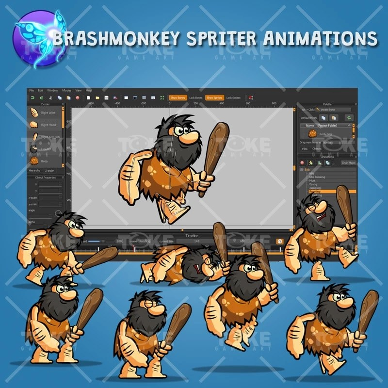 Bob The Caveman - Brashmonkey Spriter Animation