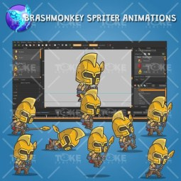 Chibi Knight Gladiator - Brashmonkey Spriter Animation