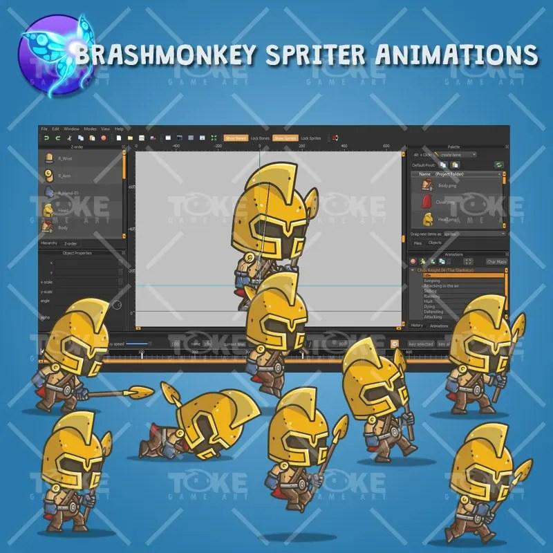 Chibi Knight Gladiator - Brashmonkey Spriter Animation
