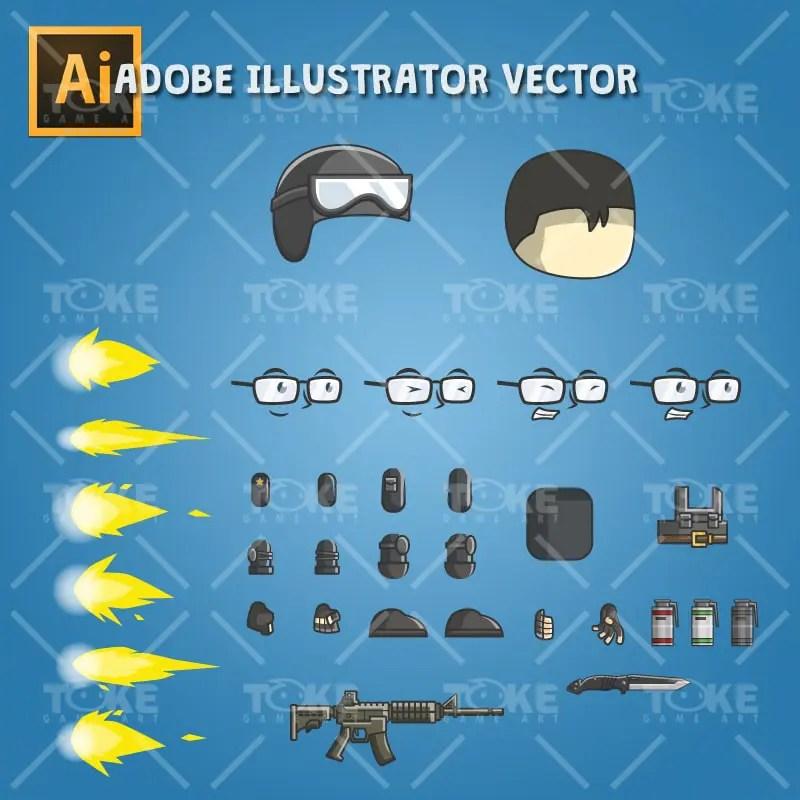 Christoper The Police - Adobe Illustrator Vector Art Based