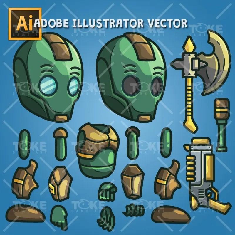 Evil Bot - Adobe Illustrator Vector Art Based