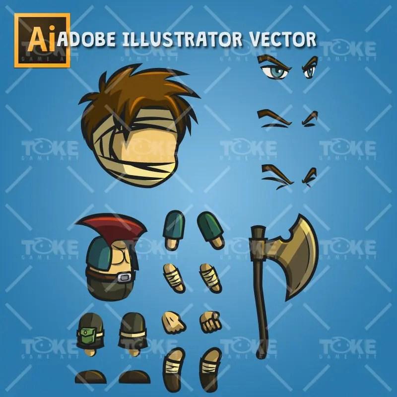 Jack The Thug - Adobe Illustrator Vector Art Based