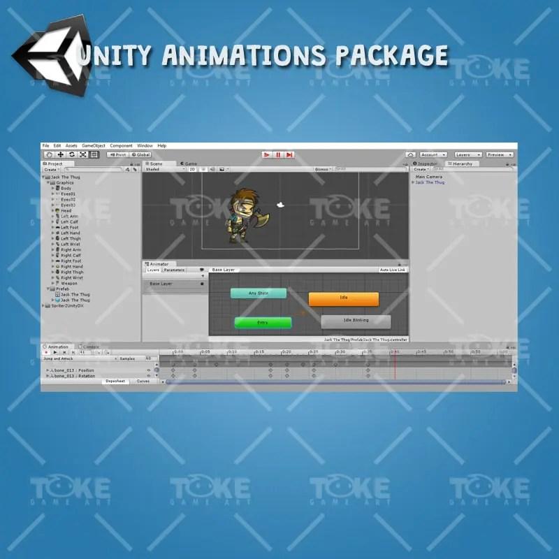Jack The Thug - Unity Animation ready