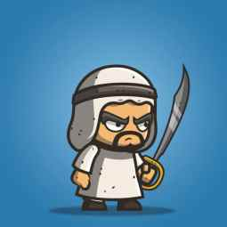 Micro Style Character Arabian Executioner - 2D Charactcer Sprite