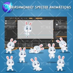 The Cute Rabbit Boy - Brashmonkey Spriter Animation Sprite
