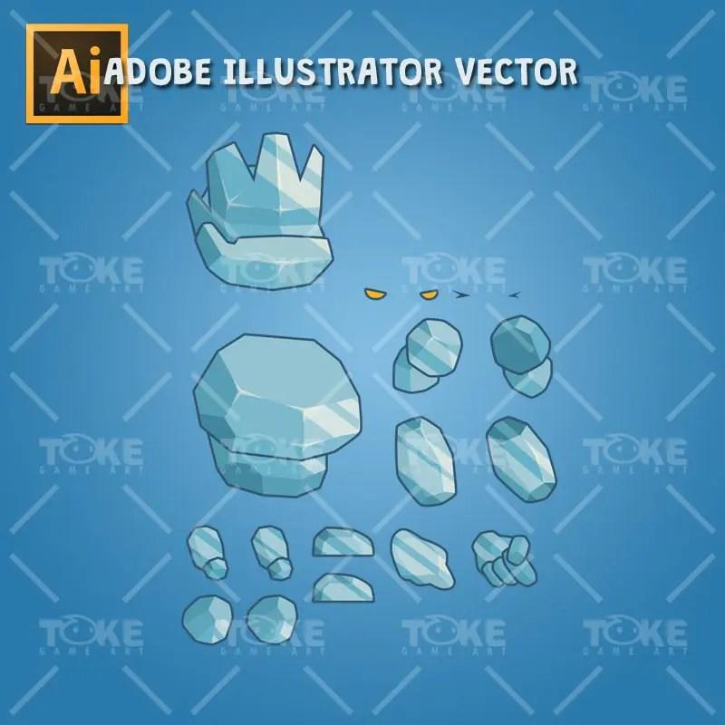 Tiny Ice Monster – Adobe Illustrator Vector Art Based