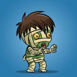 Tiny Mummy - 2D Character Sprite