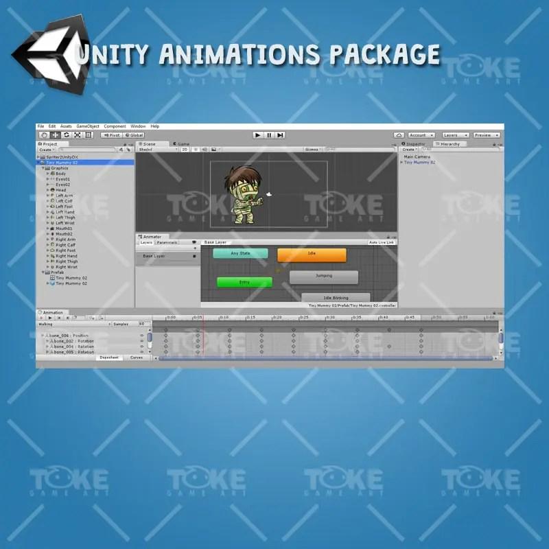 Tiny Mummy - Unity Animation ready