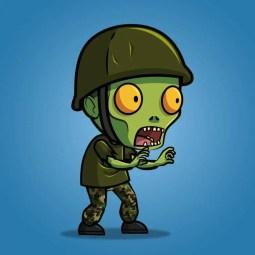 G.I. Joe Zombie – 2D Character Sprite