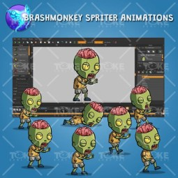 Exposed Brain Zombie – Brashmonkey Spriter Animation