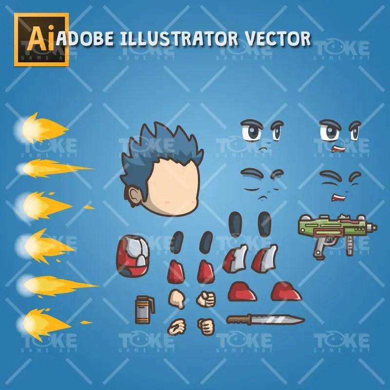 Joe From The Metro Squad - Vector Art Based