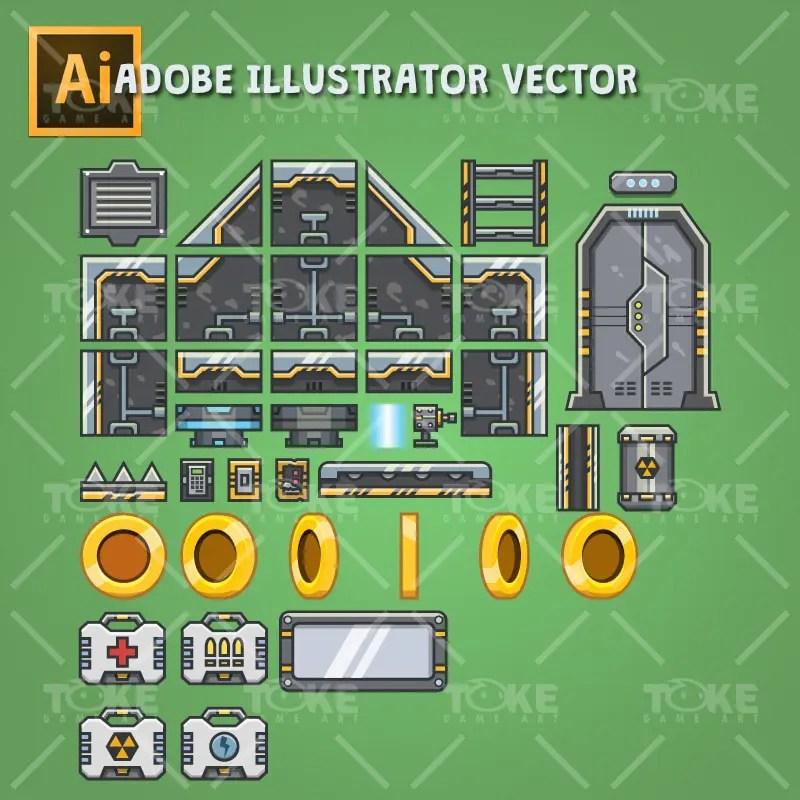 Spaceship - Vector Based Platformer