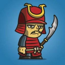 Tiny Armored Samurai - 2D Character Sprite