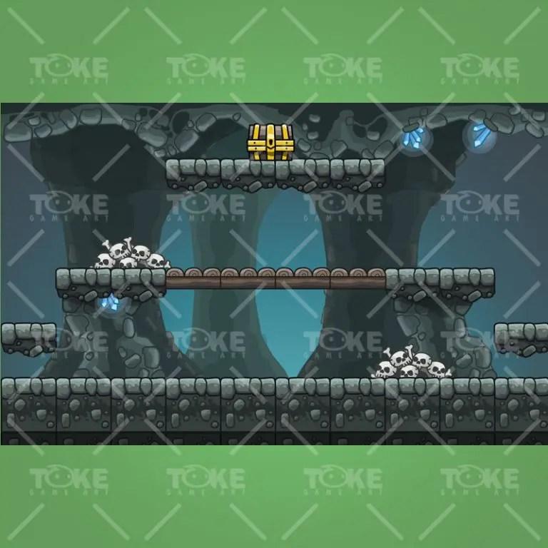 Cartoon Cave Platformer Tileset - Preview 4