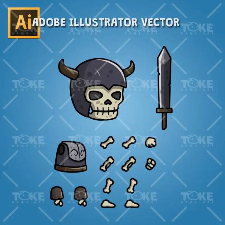 Skull Knight - Adobe Illustrator Vector Art Based