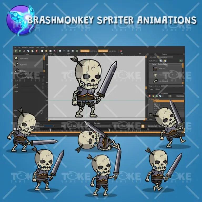Skull Warrior - Brashmonkey Spriter Animation