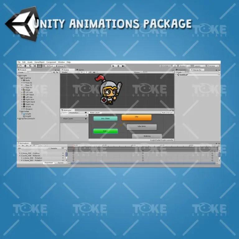 Tiny Character Sprite - Knight - Unity Animation Ready