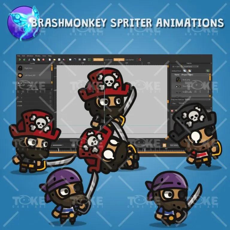 Tiny Character Style - Pirate - Brashmonkey Spriter Animation