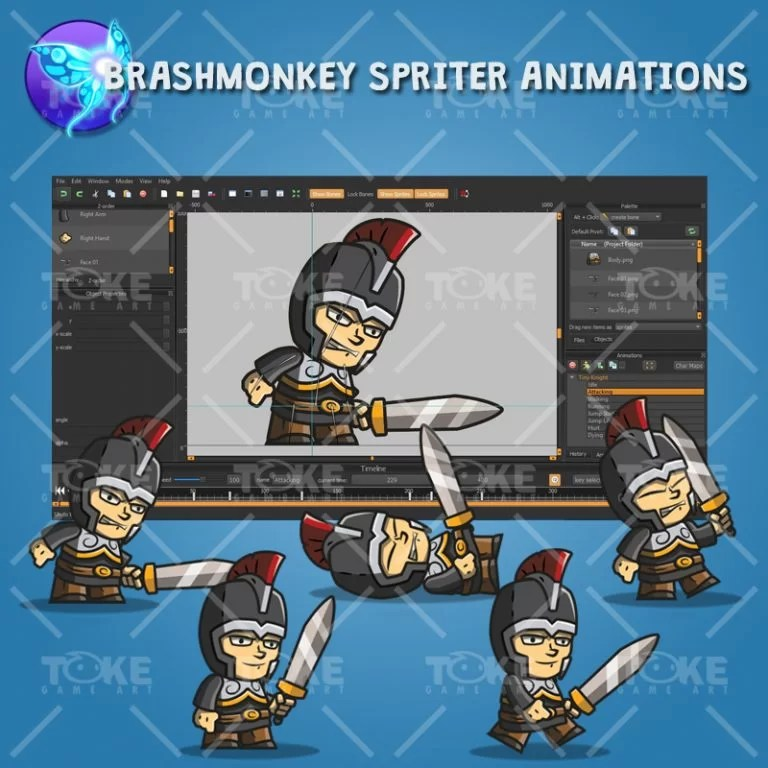 tiny knight - brashmonkey spriter animation