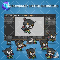 Super Black Cat - Brashmonkey Spriter Animation