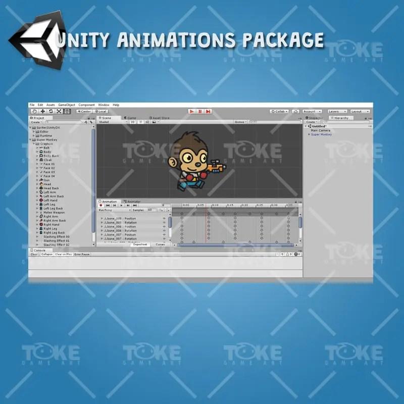 Super Monkey - Unity Animation Ready