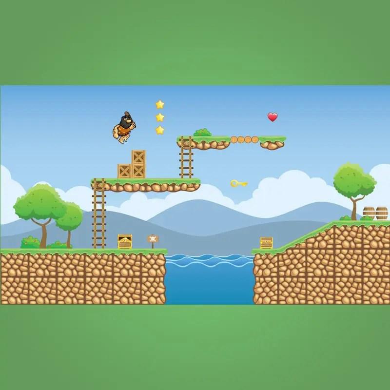Tropical Island Tileset - 2D Game Platformer
