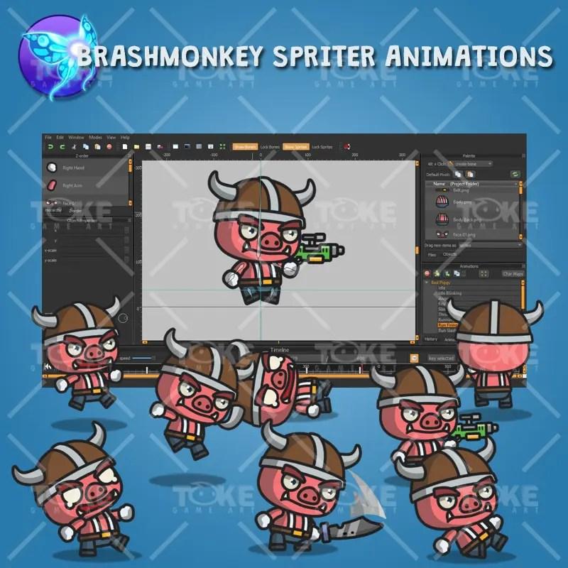 Bad Piggy - Brashmonkey Spriter Animation