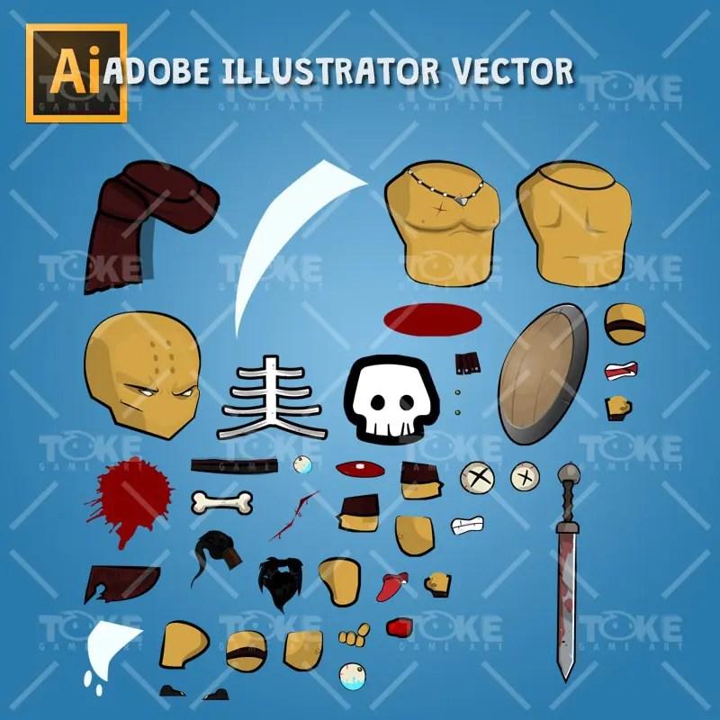 Barbarian - Adobe Illustrator Vector Art Based