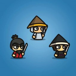 Samurai Tiny Character Style - 2D Character Sprite