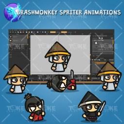 Samurai Tiny Character Style - Brashmonkey Spriter Animation
