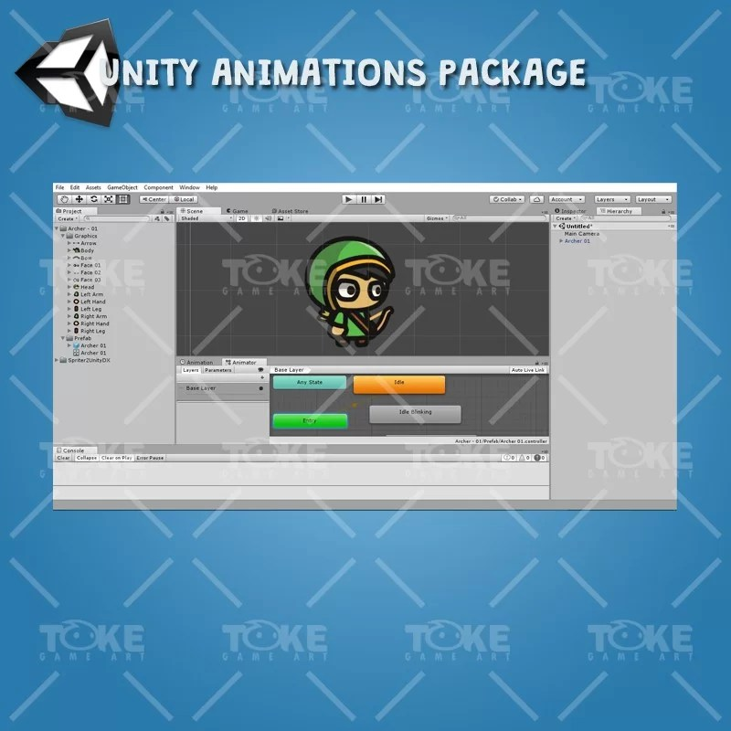 Archer Tiny Style Character - Unity Animation Ready