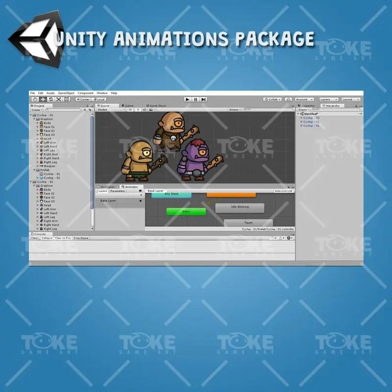 Cyclop Tiny Style Character - Unity Animation Ready