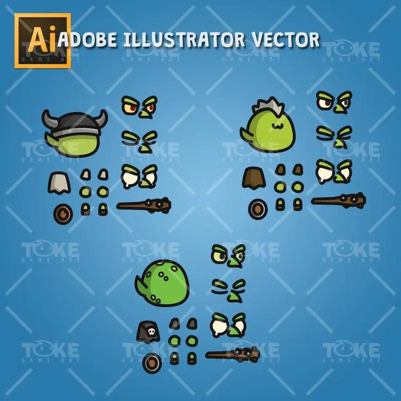 Goblin Tiny Style Character - Adobe Illustrator Vector Art Based