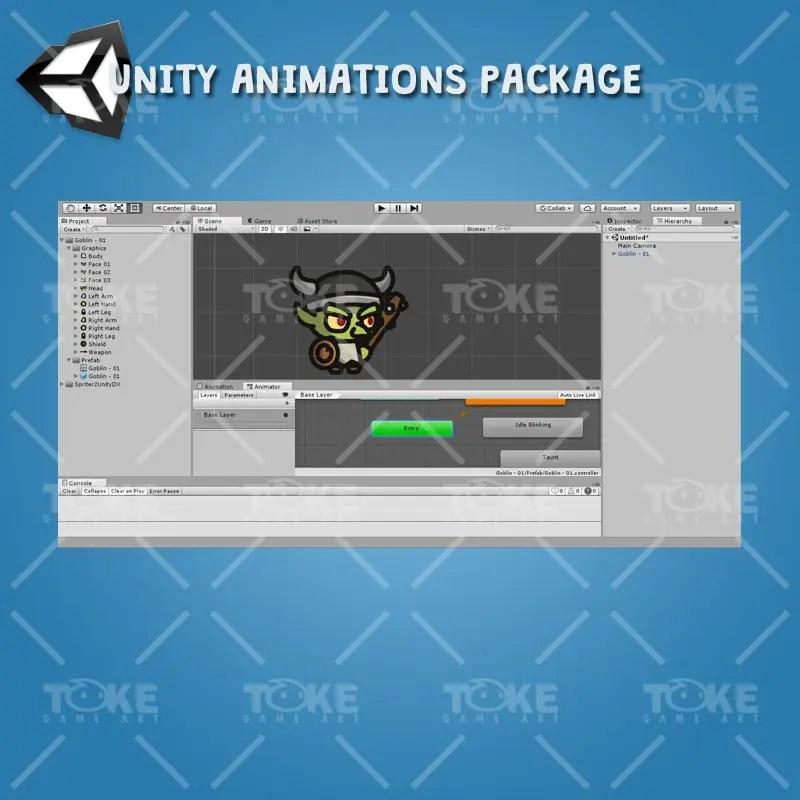 Goblin Tiny Style Character - Unity Animation Ready