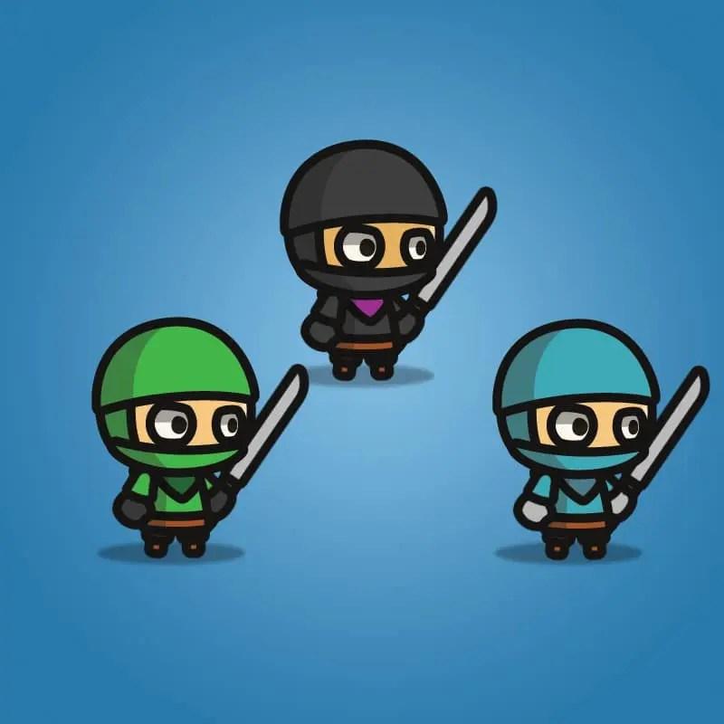 Ninja Tiny Style Character - 2D Character Sprite