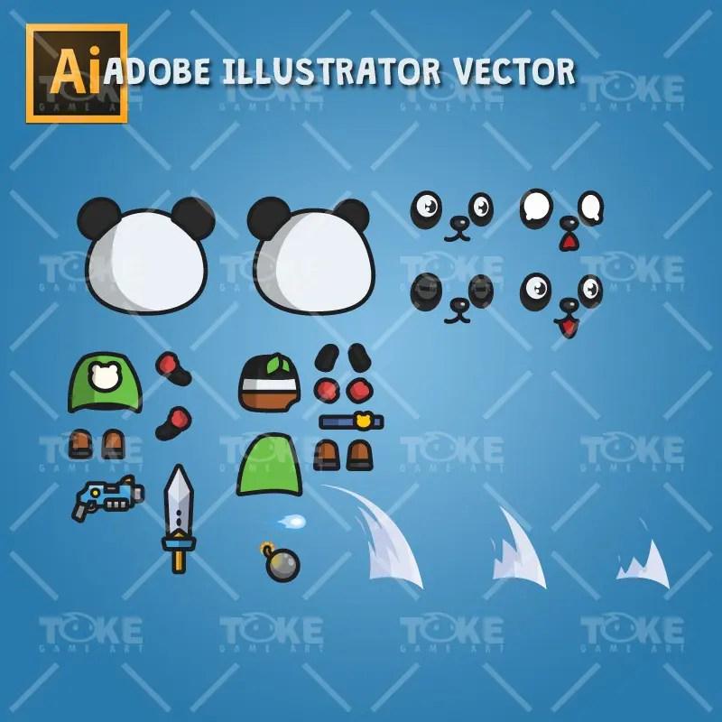 Super Panda - Adobe Illustrator Vector Art Based