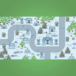 Top-Down Snowy Tileset - 2D Top-Down Game Tileset