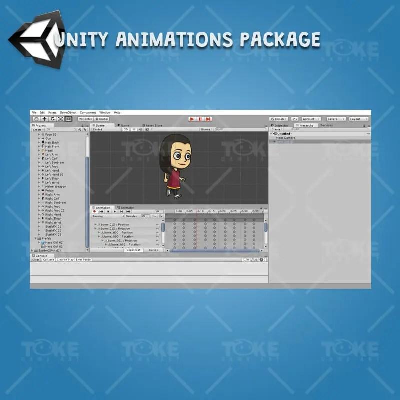 Hero Girl 02 - Unity Animation Ready