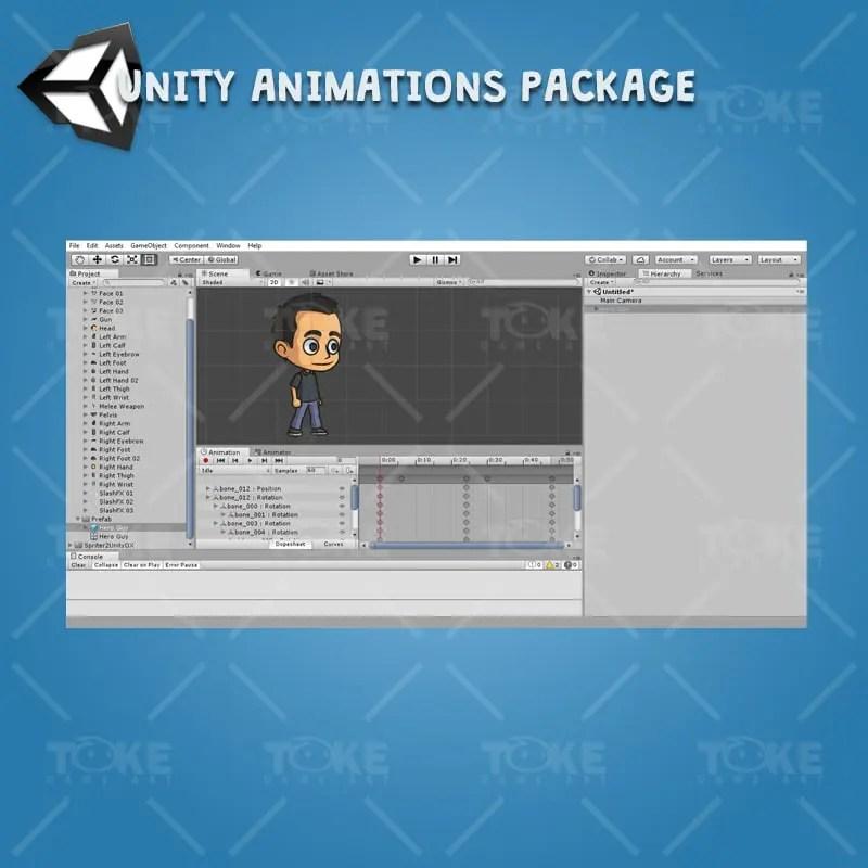Hero Guy - Unity Animation Ready
