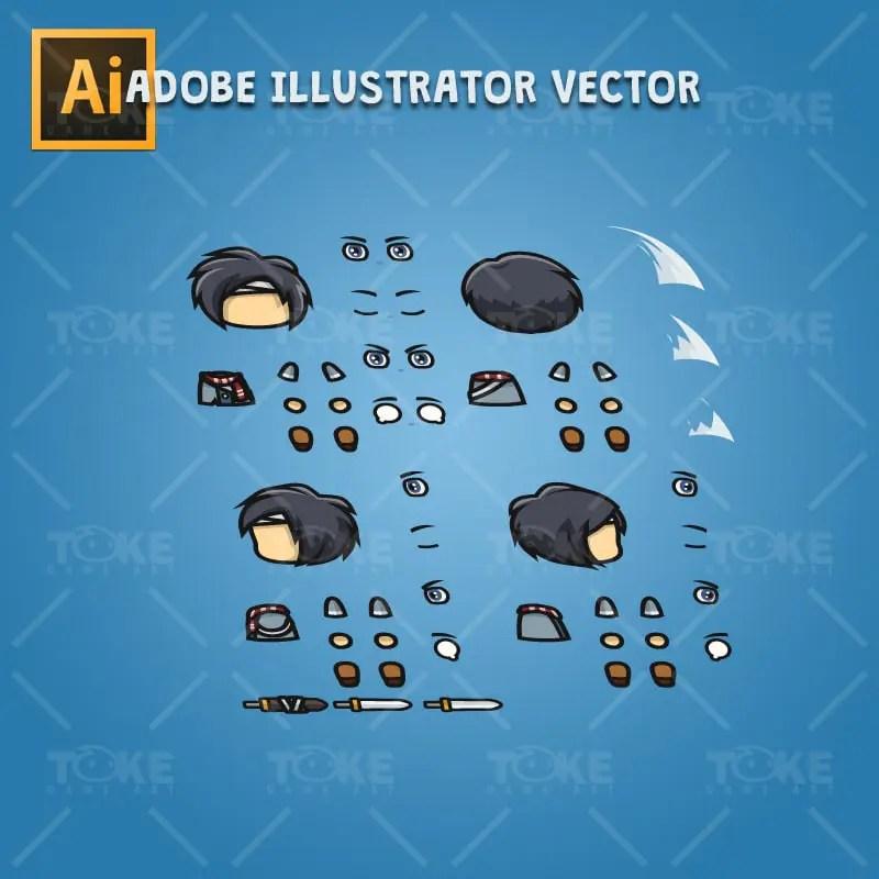 Ryu - Adobe Illustrator Vector Art Based