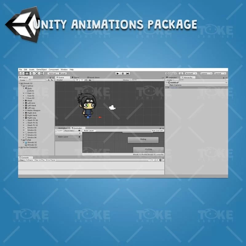 Shinobi 02 - (Uchiha Sasuke) - Unity Animation Ready