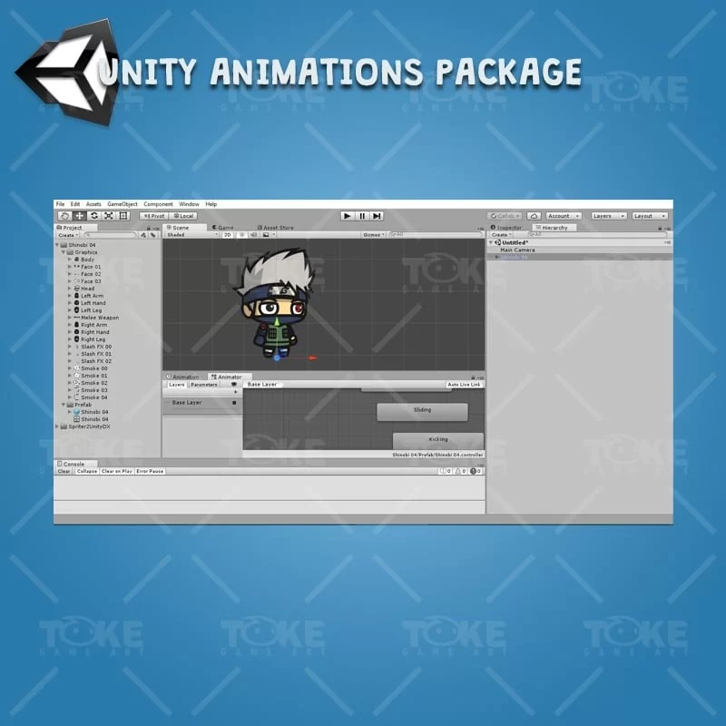 Shinobi 04 - Kakashi Hatake - Unity Animation Ready