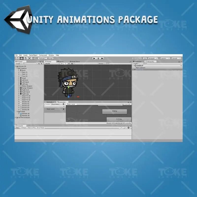 Shinobi 05 - Zabuza - Evil Masked Shinobi - Unity Animation Ready