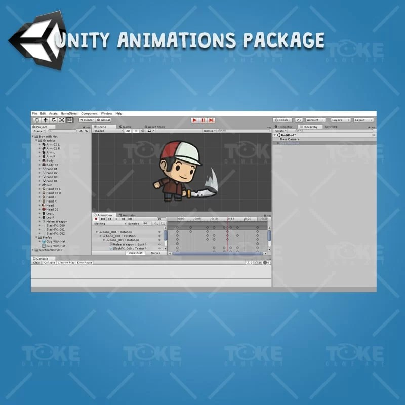 Boy with Hat - Unity Animation Ready