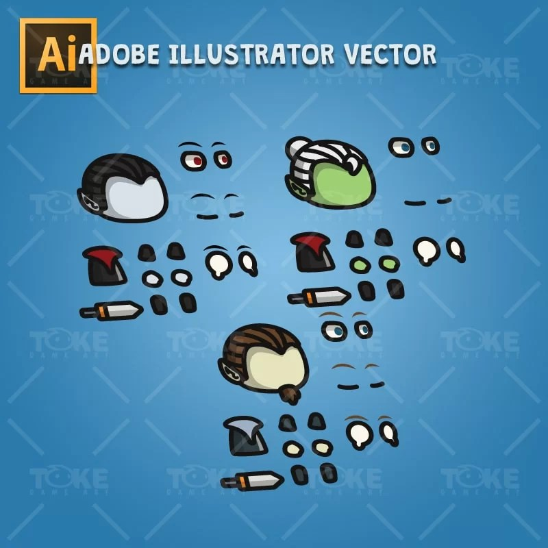 Dracula Tiny Style - Adobe Illustrator Vector Art Based