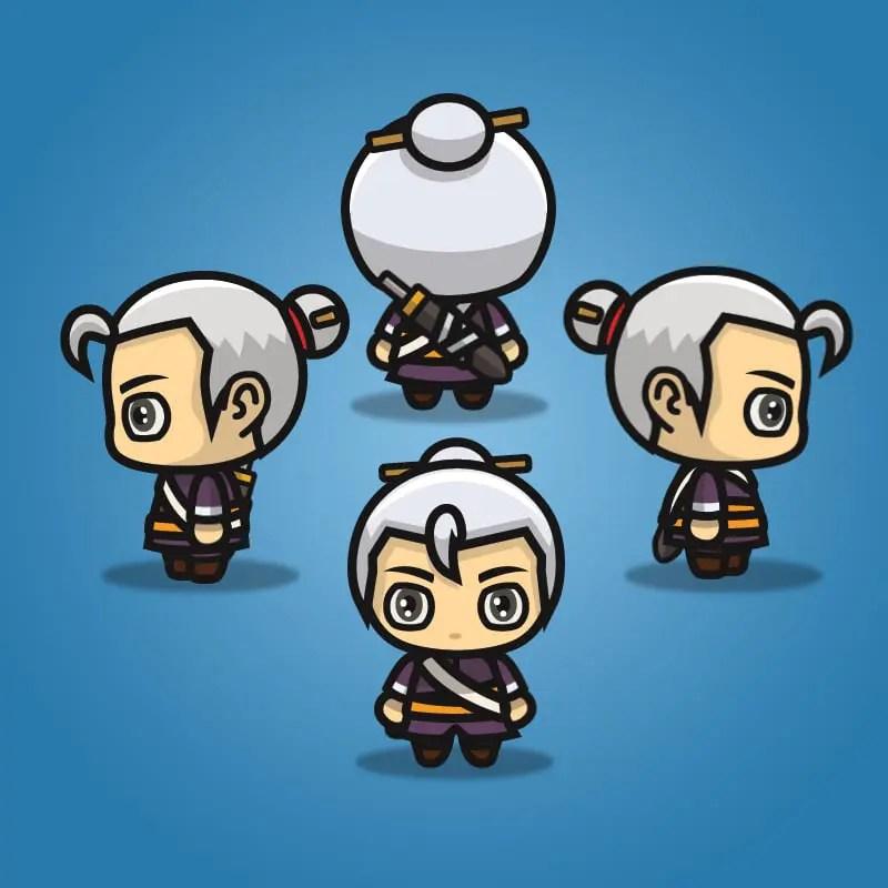 swordmaster 4 directional 2d character