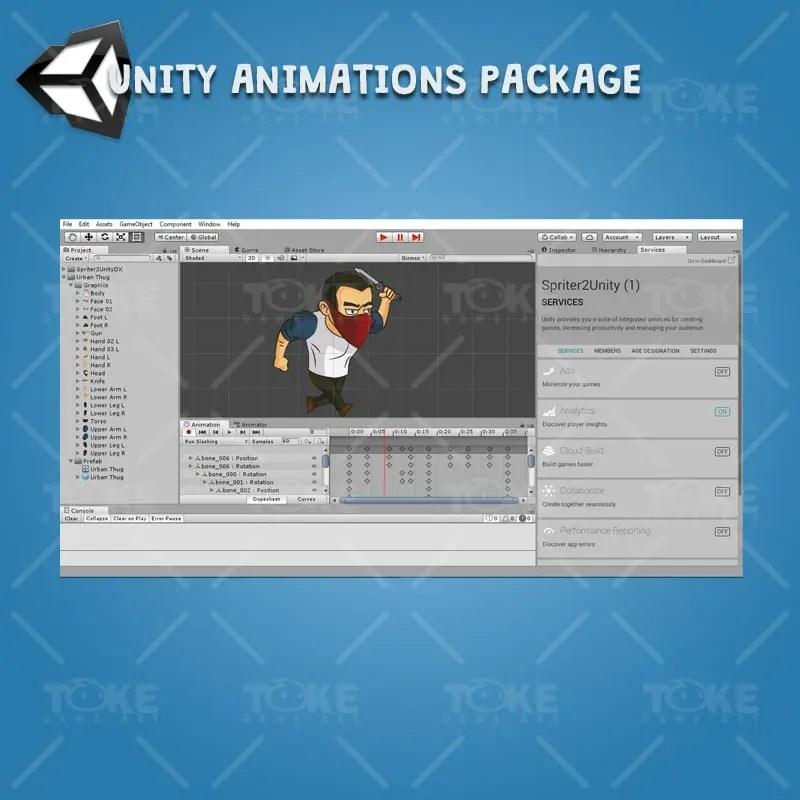 Urban Thug - Unity Animation Ready