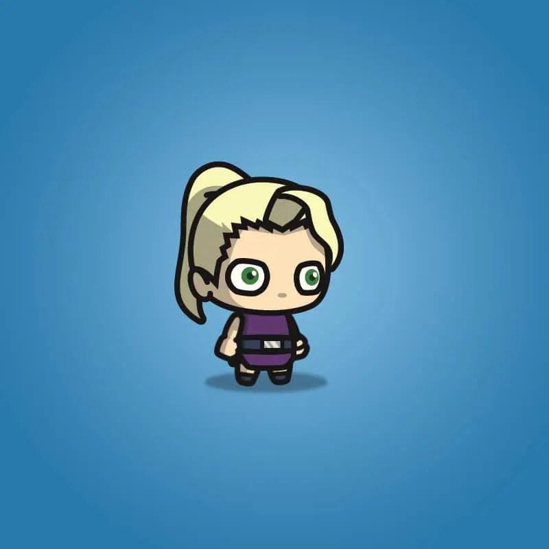 Blonde Shinobi Girl